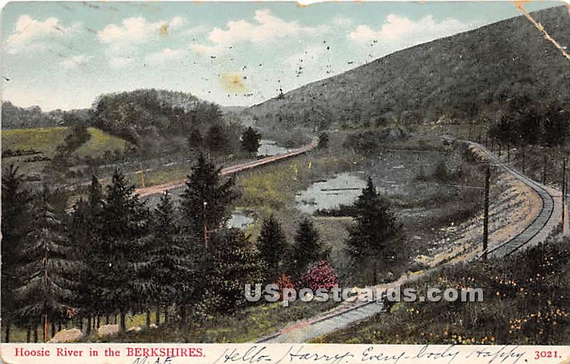 Hoosic River - Berkshire Hills, Massachusetts MA Postcard