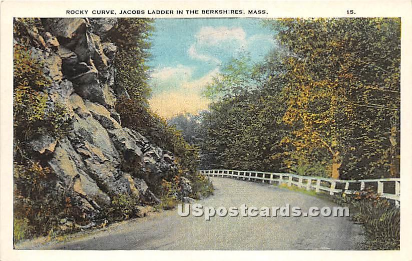 Rocky Cruve at Jacobs Ladder - Berkshire Hills, Massachusetts MA Postcard
