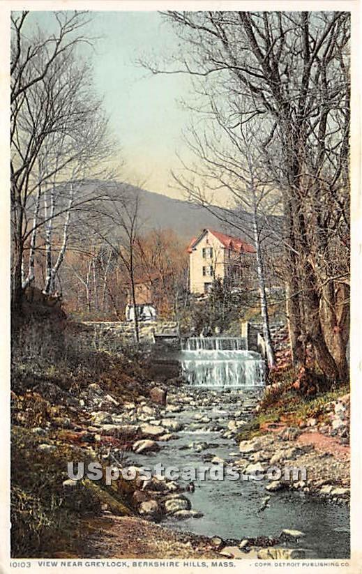 View near Greylock - Berkshire Hills, Massachusetts MA Postcard