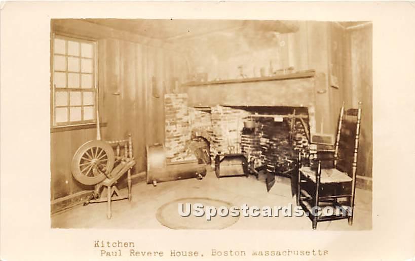 Kitchen in Paul Revere House - Boston, Massachusetts MA Postcard