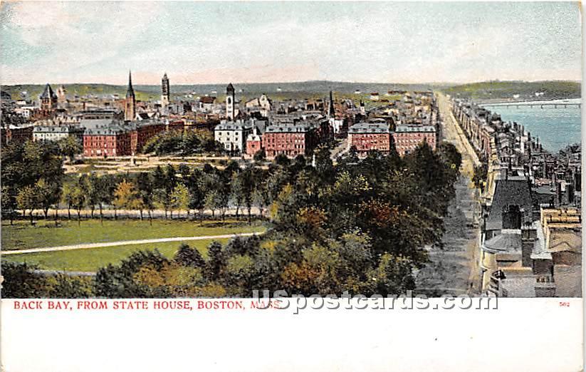 Back Bay from State House - Boston, Massachusetts MA Postcard