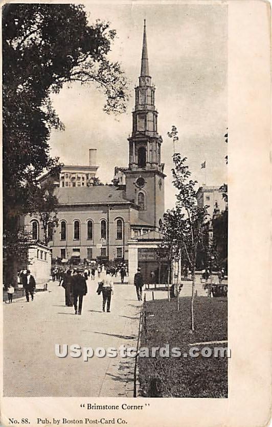 Brimstone Corner - Boston, Massachusetts MA Postcard