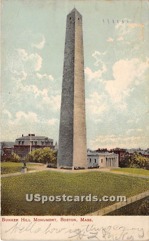 Bunker Hill Monument - Boston, Massachusetts MA Postcard