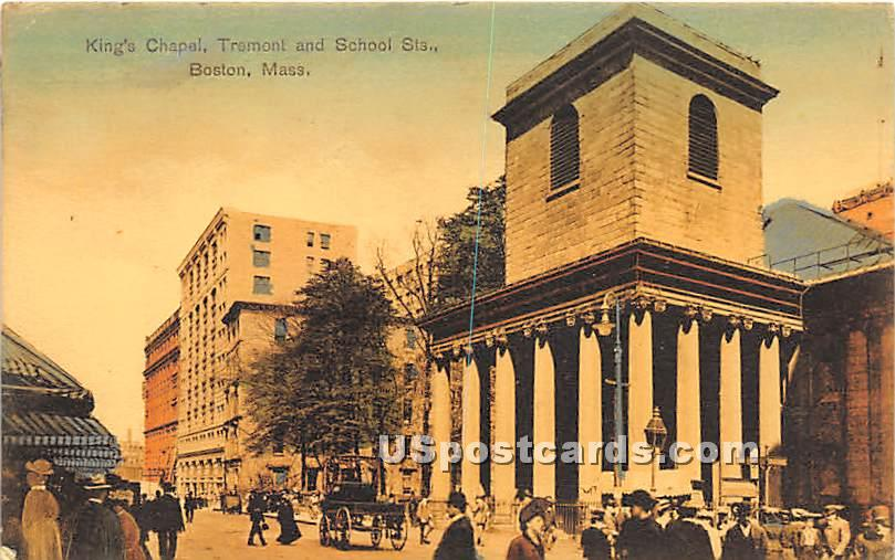 King's Chapel, Tremont & School Streets - Boston, Massachusetts MA Postcard