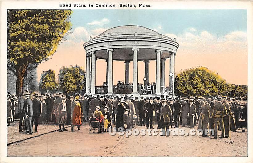Band Stand in Common - Boston, Massachusetts MA Postcard