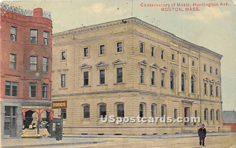 Conservatory of Music at Huntington Avenue - Boston, Massachusetts MA Postcard