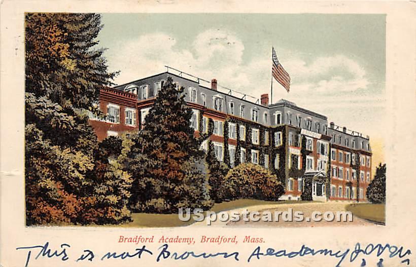 Bradford Academy - Massachusetts MA Postcard