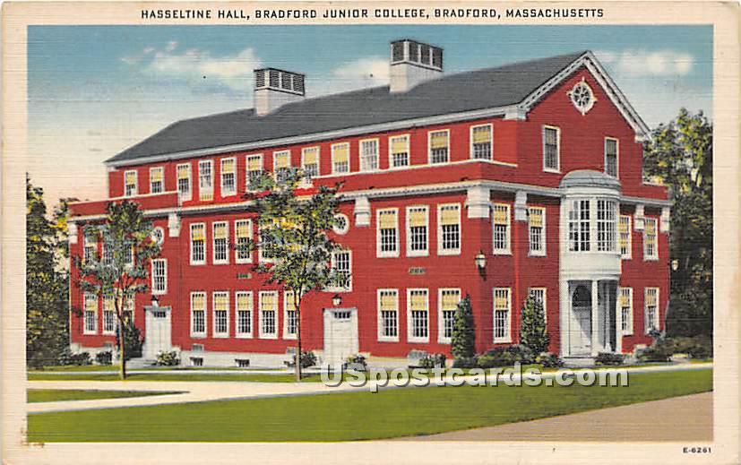 Hasseltine Hall at Bradford Junior College - Massachusetts MA Postcard
