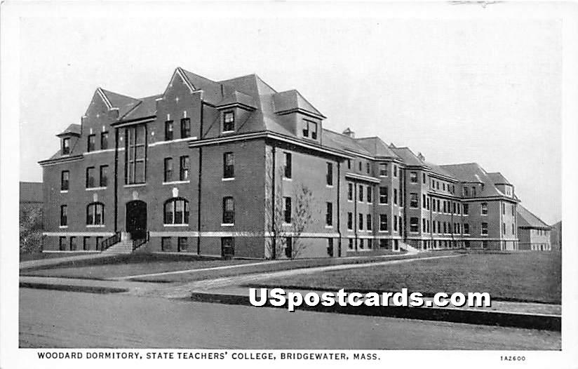 Woodard Dormitory at State Teachers' College - Bridgewater, Massachusetts MA Postcard