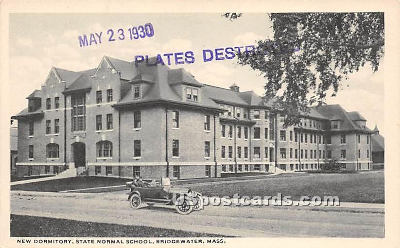 New Dormitory at State Normal School - Bridgewater, Massachusetts MA Postcard