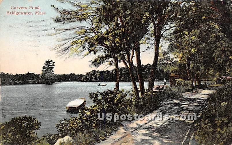 Carvers Pond - Bridgewater, Massachusetts MA Postcard