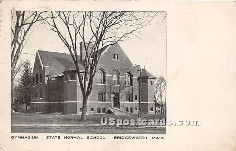 Gymnasium at State Normal School - Bridgewater, Massachusetts MA Postcard