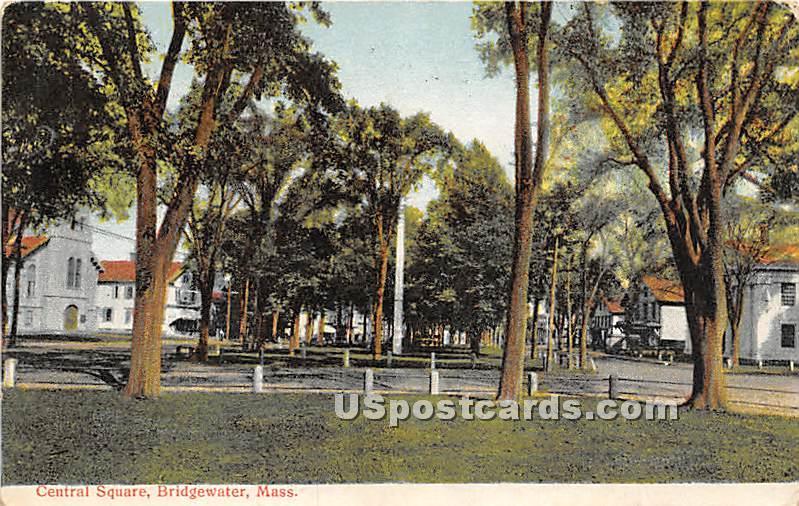Central Square - Bridgewater, Massachusetts MA Postcard
