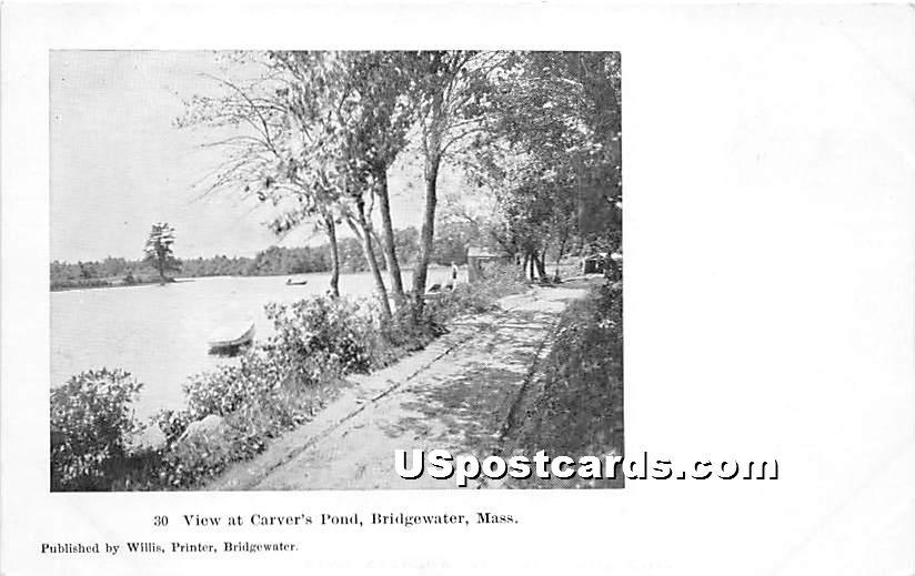 View at Carver's Pond - Bridgewater, Massachusetts MA Postcard