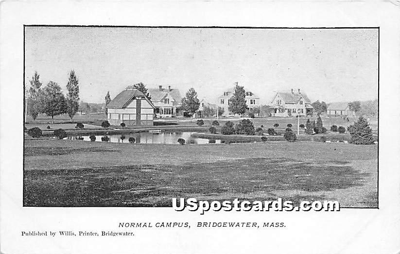 Normal Campus - Bridgewater, Massachusetts MA Postcard