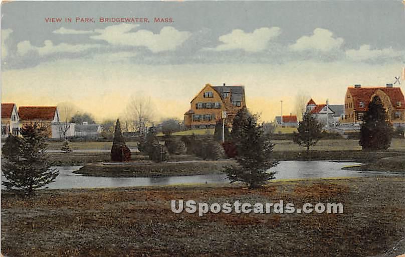 View in Park - Bridgewater, Massachusetts MA Postcard