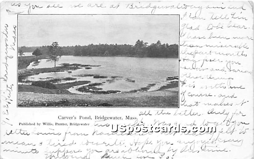 Carver's Pond - Bridgewater, Massachusetts MA Postcard
