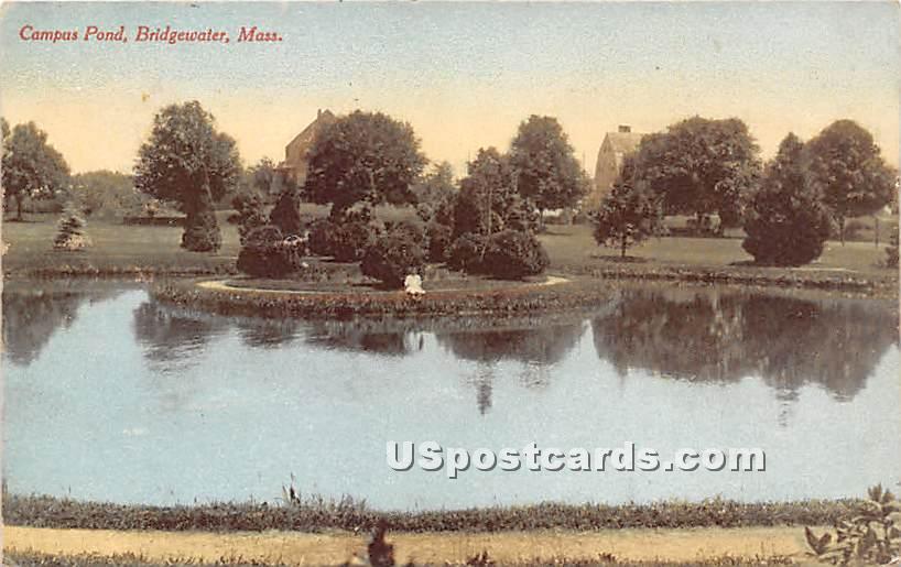 Campus Pond - Bridgewater, Massachusetts MA Postcard