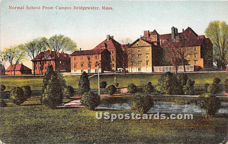 Normal School from Campus - Bridgewater, Massachusetts MA Postcard