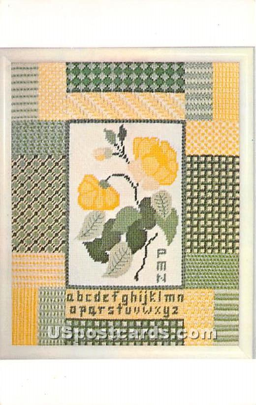 Floral Sampler at Needlepoint by Pamela - Brighton, Massachusetts MA Postcard