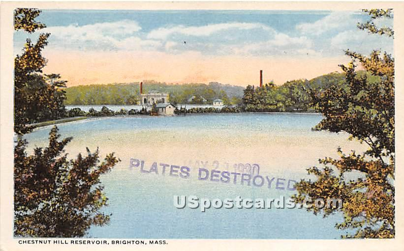 Chestnut Hill Reservoir - Brighton, Massachusetts MA Postcard