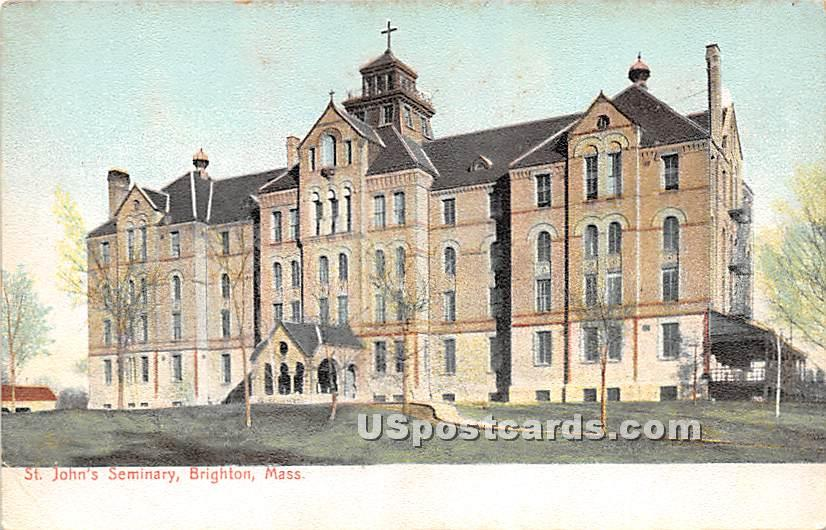 St John's Seminary - Brighton, Massachusetts MA Postcard