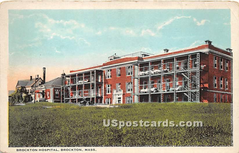 Brockton Hospital - Massachusetts MA Postcard