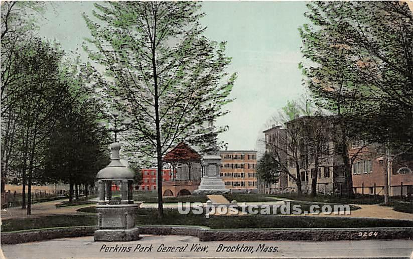 Perkins Park General View - Brockton, Massachusetts MA Postcard