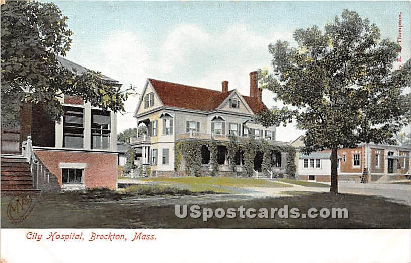 City Hospital - Brockton, Massachusetts MA Postcard