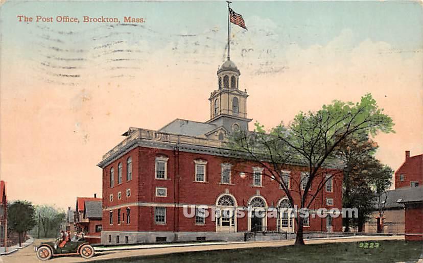 The Post Office - Brockton, Massachusetts MA Postcard