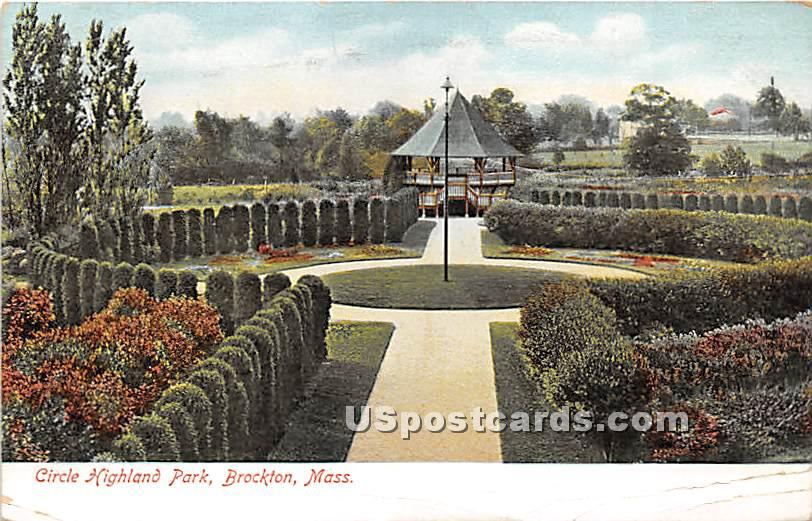 Circle Highland Park - Brockton, Massachusetts MA Postcard