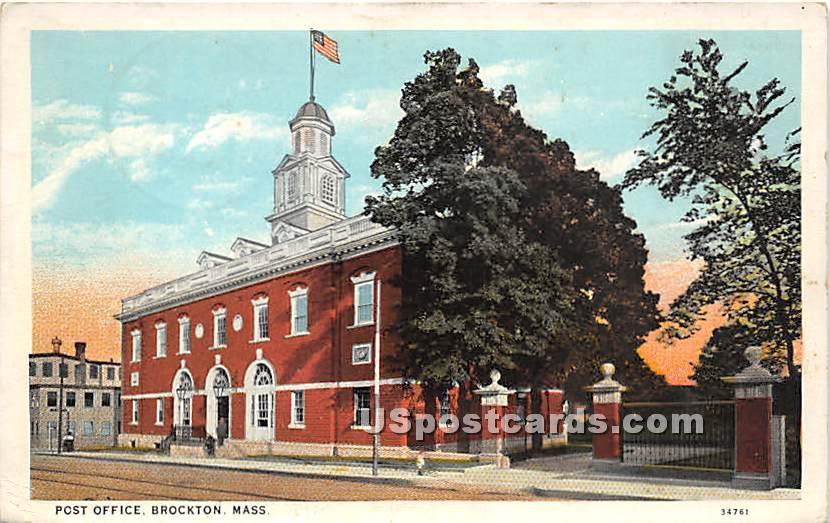 Post Office - Brockton, Massachusetts MA Postcard