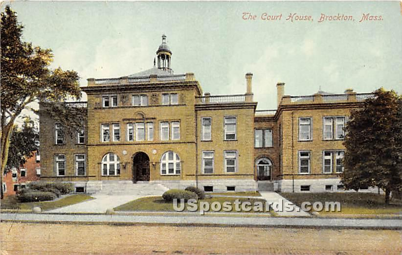 The Court House - Brockton, Massachusetts MA Postcard
