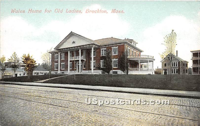 Wales Home for Old Ladies - Brockton, Massachusetts MA Postcard