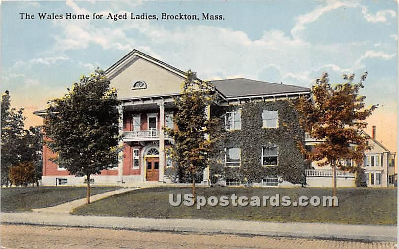 The Wales Home for Aged Ladies - Brockton, Massachusetts MA Postcard