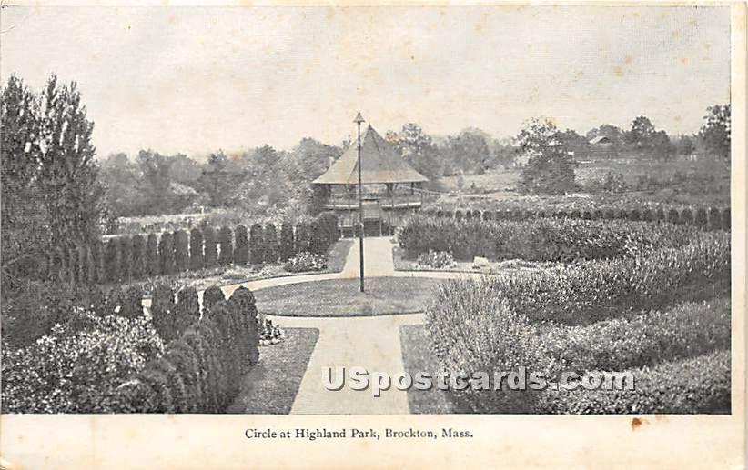 Circle at Highland Park - Brockton, Massachusetts MA Postcard