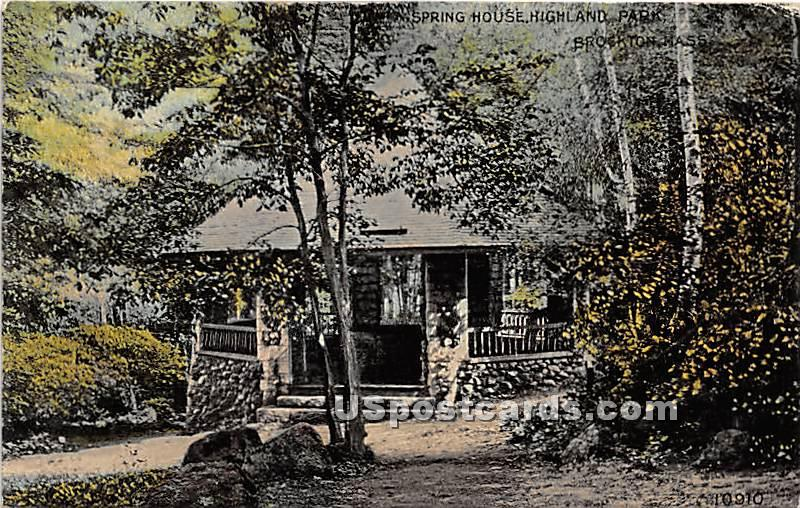 Spring House in Highland Park - Brockton, Massachusetts MA Postcard