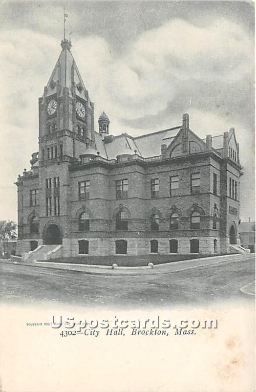 City Hall - Brockton, Massachusetts MA Postcard