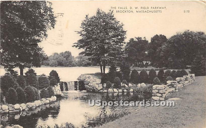 The Falls DW Field Parkway - Brockton, Massachusetts MA Postcard