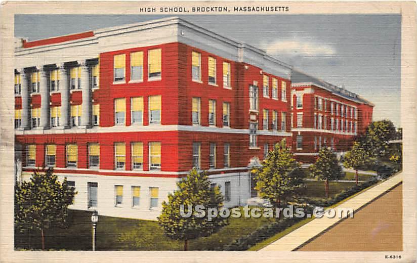 High School - Brockton, Massachusetts MA Postcard