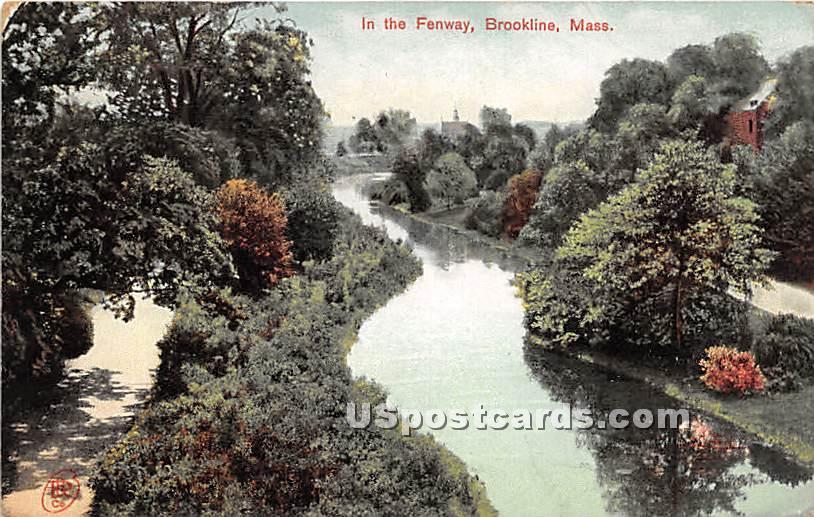 In the Fenway - Brookline, Massachusetts MA Postcard
