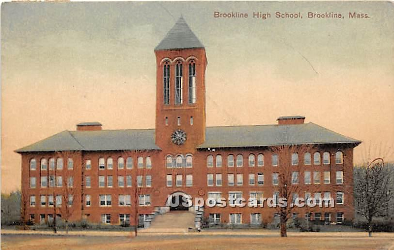 Brookline High School - Massachusetts MA Postcard