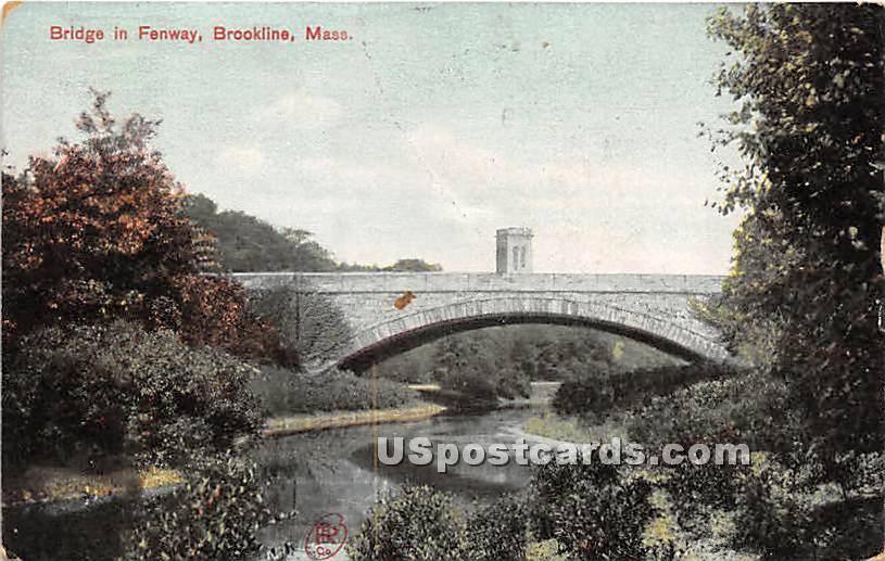 Bridge in Fenway - Brookline, Massachusetts MA Postcard