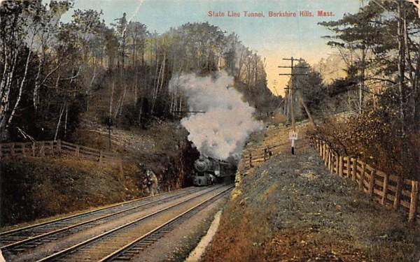 State Line Tunnel Berkshire Hills, Massachusetts Postcard