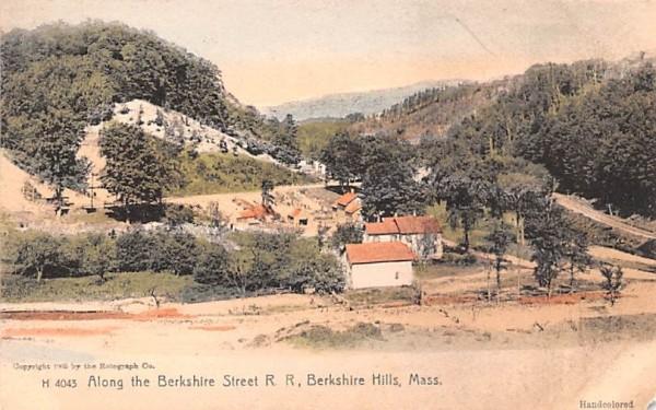 Along the Berkshire Street R.R. Berkshire Hills, Massachusetts Postcard