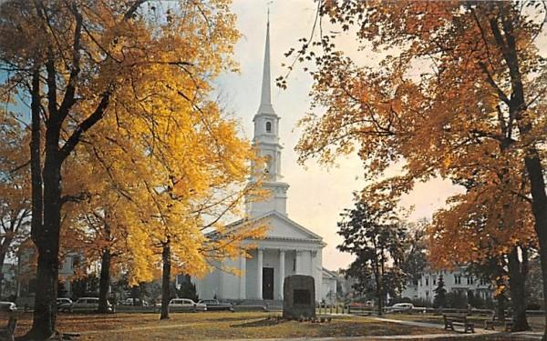 First Church & Christ Congregational Bradford, Massachusetts Postcard