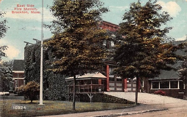 East Side Fire Station Brockton, Massachusetts Postcard
