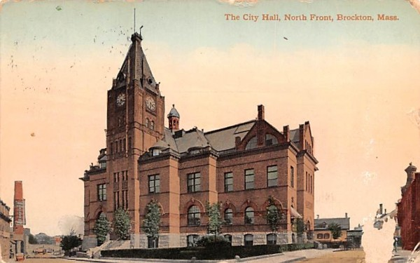 The City Hall Brockton, Massachusetts Postcard