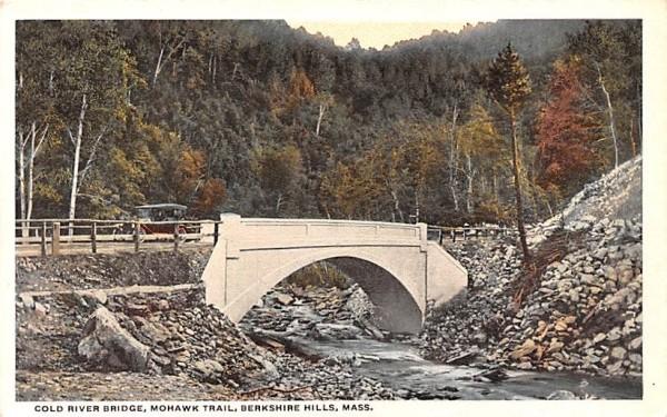Cold River Bridge Berkshire Hills, Massachusetts Postcard