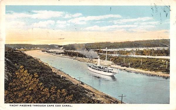 Yacht Passing Through  Brockton, Massachusetts Postcard